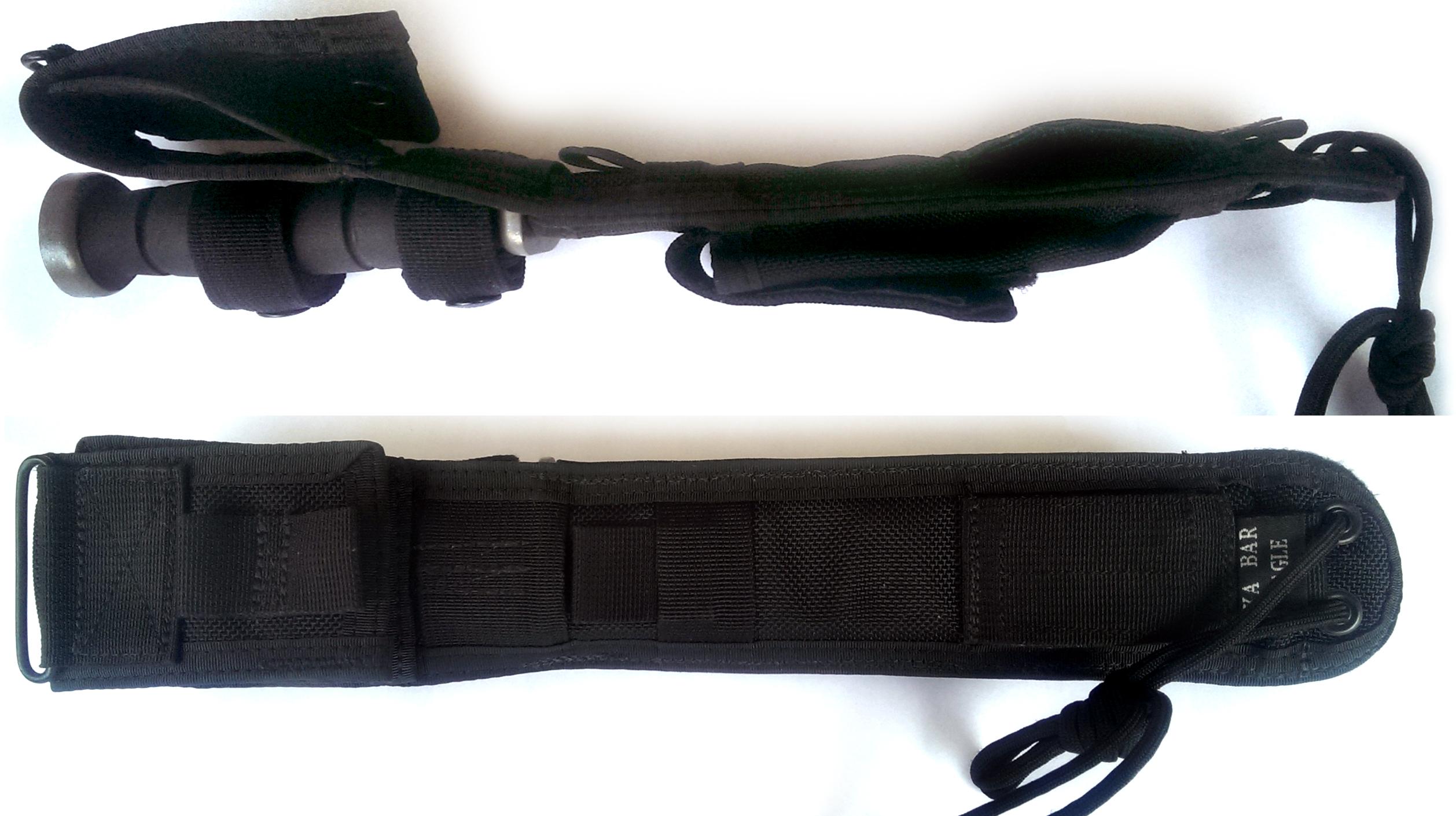 The side and back of the KA-BAR Eagle Cordura sheath