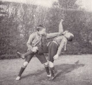 boy-scouts-master-at-arms-badge-wrestling-early-1900s