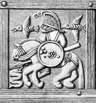 Believed depiction of Odin from Vendel period