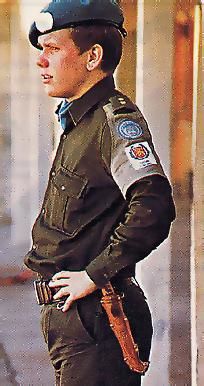 A young Peltonen on duty in Cyprus