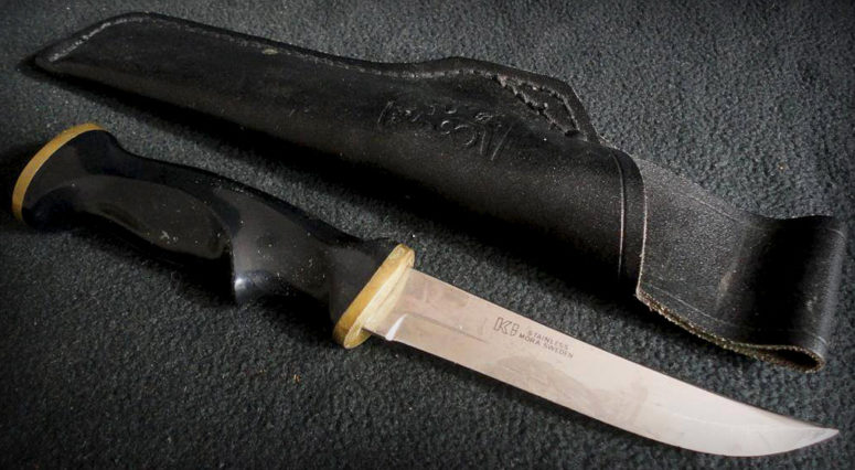 "My old KJ Eriksson ""Jägaren"" Mora hunting knife"