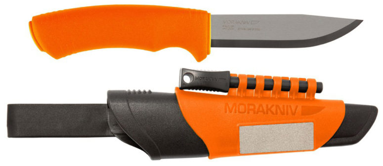 Mora Bushcraft Survival Orange Stainless Steel version