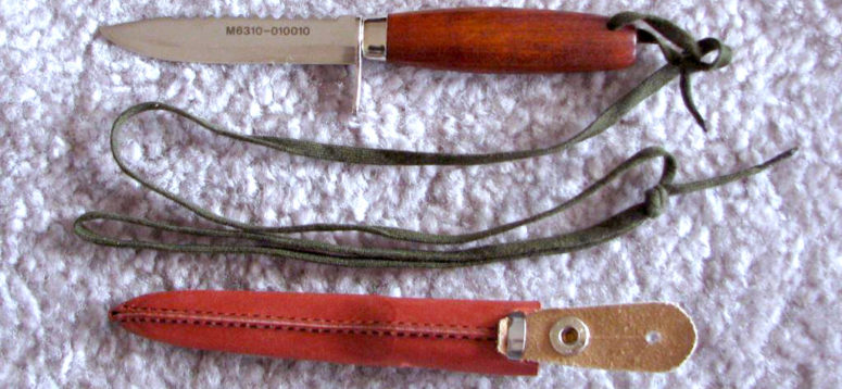 Swedish Airforce, Pilot's rescue/survival knife