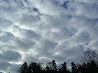 "Stratocumulus clouds, one of the two clouds that give off ""grainsnow""."
