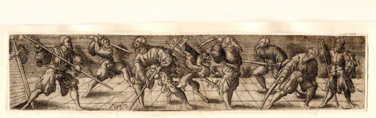 The Freifechter fencing guild, with their Griffin, a creature half lion, half eagle.