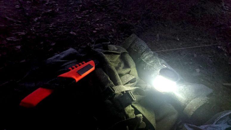 Orange Bushcraft Survival shines almost as bright as the lantern.